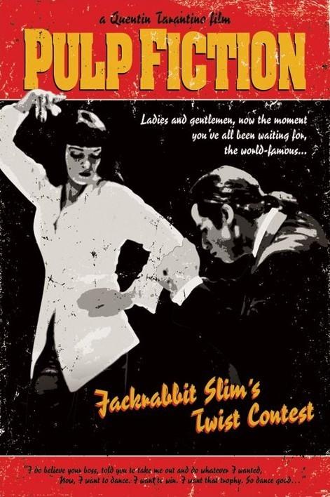 Pulp fiction plakat levně  405ae34103