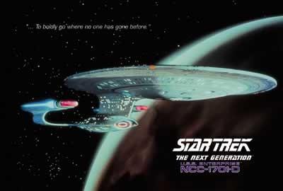 Plakát, Obraz - STAR TREK - USS Enterprise, (101,6 x 68,5 cm)