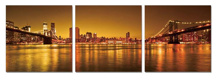 Obraz na zeď - New York - dvě cesty na Manhattan, (150 x 50 cm)