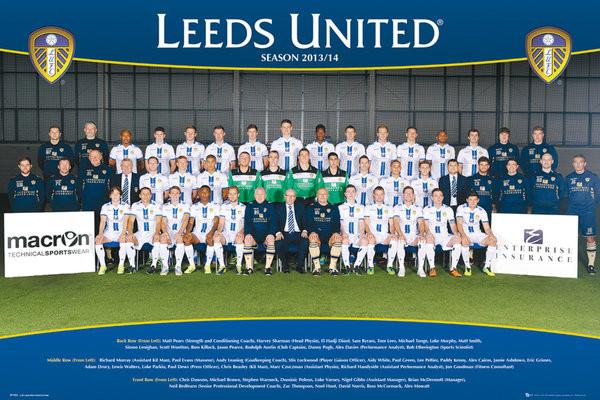 Plakát, Obraz - Leeds United AFC - Team Photo 13/14, (91,5 x 61 cm)