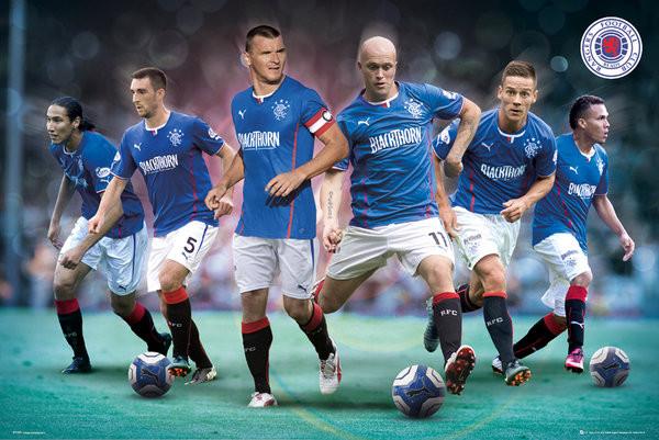 Plakát, Obraz - Rangers FC - Players 13/14, (91,5 x 61 cm)