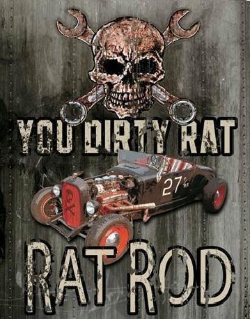 Plechová cedule LEGENDS - dirty rat, (32 x 41 cm)