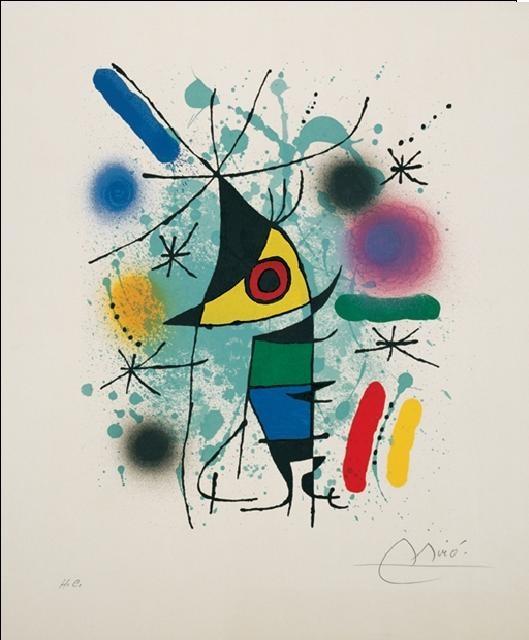 Obraz, Reprodukce - Zpívající ryba, Joan Miró, (60 x 80 cm)
