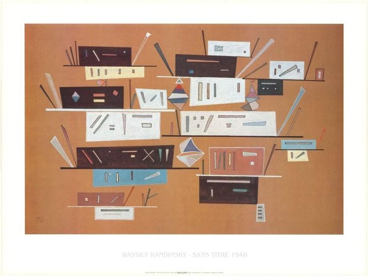 Obraz, Reprodukce - Kompozice 1940, Kandinsky, (30 x 24 cm)