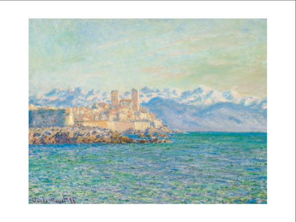 Obraz, Reprodukce - Stará pevnost v Antibes - The Old Fort at Antibes, Claude Monet, (80 x 60 cm)
