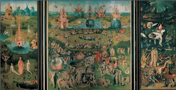 Obraz, Reprodukce - Zahrada pozemských rozkoší, 1503-04, Hieronymus Bosch, (116 x 67 cm)