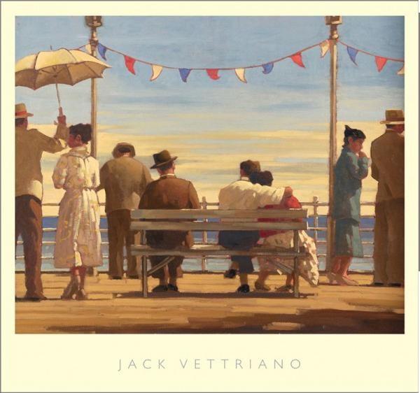 Obraz, Reprodukce - The Pier, Jack Vettriano, (72 x 67 cm)