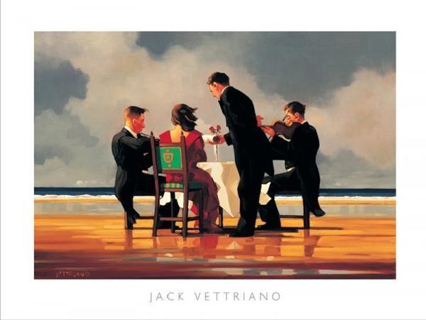Obraz, Reprodukce - Elegy for a Dead Admiral - Elegie za mrtvého admirála, 1994, Jack Vettriano, (50 x 40 cm)