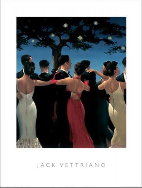Obraz, Reprodukce - Waltzers, 1992, Jack Vettriano, (60 x 80 cm)