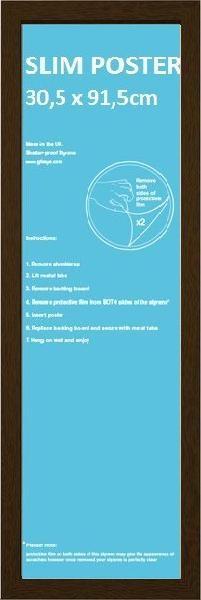 Lijsten - Slim Poster 30,5x91,5cm walnoot MDF