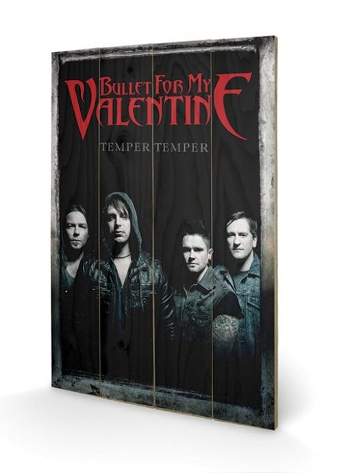 Dřevěný obraz Bullet For My Valentine - Group, (40 x 59 cm)
