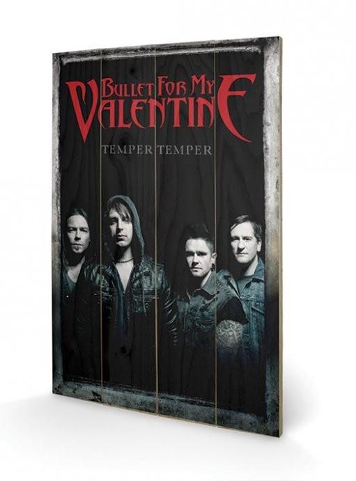 Dřevěný obraz Bullet For My Valentine - Group, (40 x 59 cm)