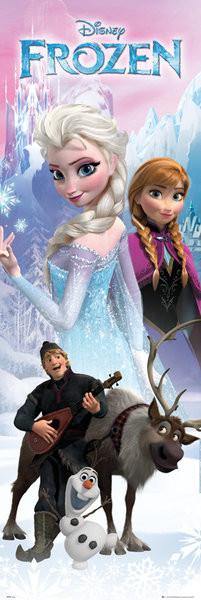 Plakát, Obraz - Ledové království - Anna a Elsa, (53 x 158 cm)