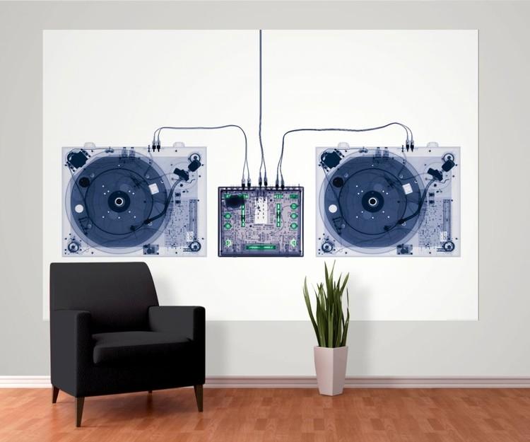 Fototapete tapete x ray dj decks bei europosters