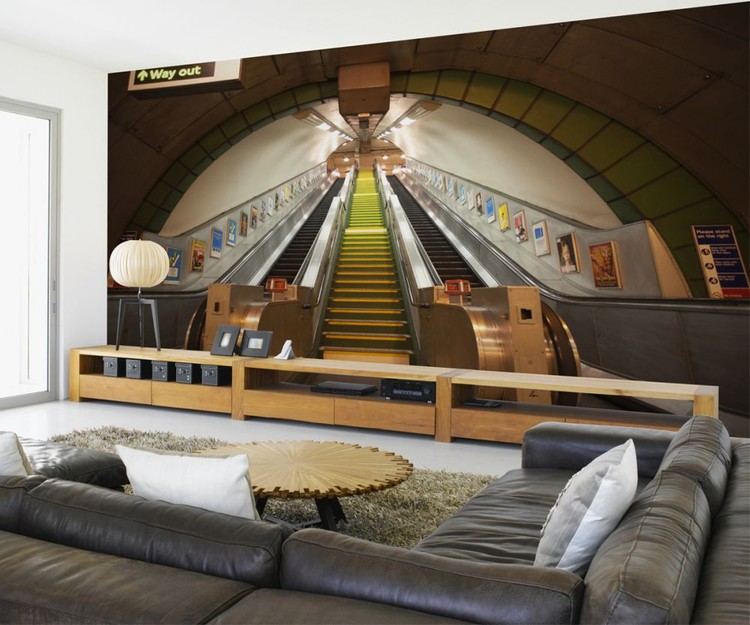 London Underground Tapete : London Subway Escalators