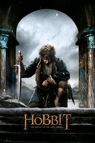 Plakát, Obraz - Hobit 3: Bitva pěti armád - Bilbo, (61 x 91,5 cm)