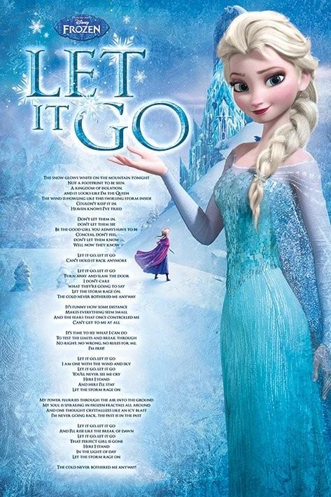 Plakát, Obraz - Ledové království - Let It Go, (61 x 91,5 cm)