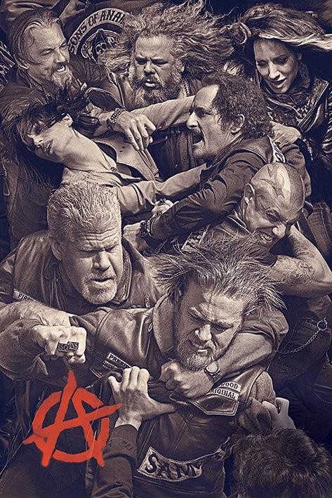 Plakát, Obraz - Sons of Anarchy (Zákon gangu) - Fight, (61 x 91,5 cm)
