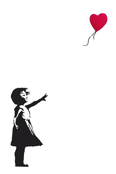 Plakát, Obraz - Banksy Street Art - Hope, (61 x 91,5 cm)