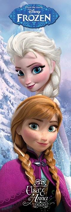 Plakát, Obraz - Ledové království - Anna & Elsa, (53 x 158 cm)