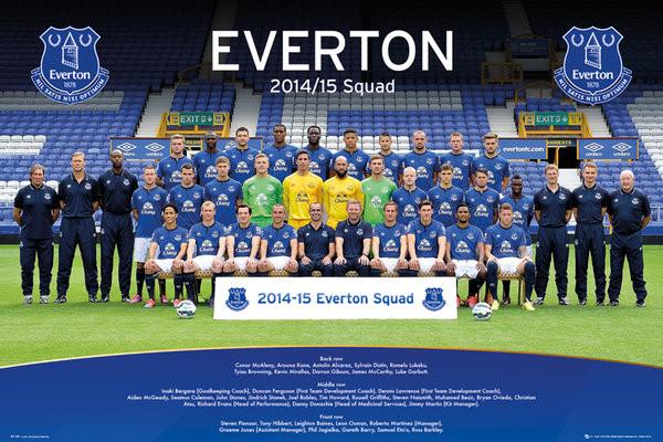 Plakát, Obraz - Everton FC - Team Photo 14/15, (91,5 x 61 cm)