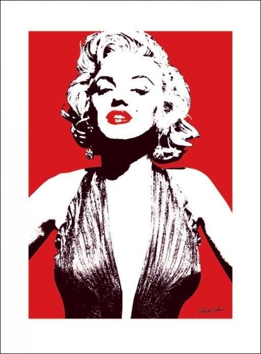 Obraz, Reprodukce - Marilyn Monroe - Red, (40 x 50 cm)