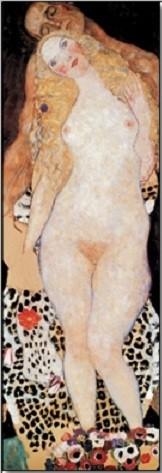 Obraz, Reprodukce - Adam a Eva, Gustav Klimt, (24 x 30 cm)