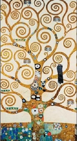 Obraz, Reprodukce - Strom života - vlys z paláce Stoclet, 1909, Gustav Klimt, (60 x 80 cm)