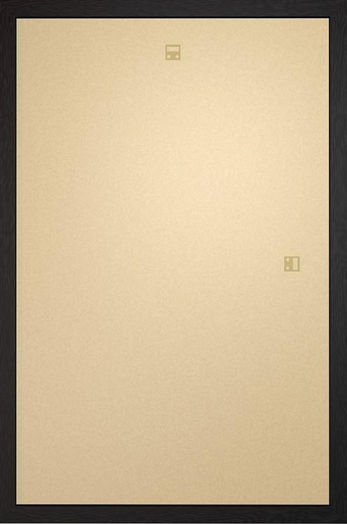 Ram -Art poster / affisch 60x80cm svart MDF