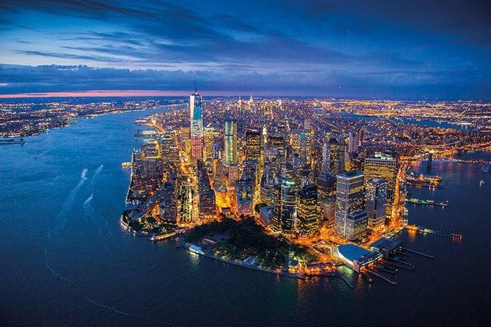 Plakát, Obraz - New York - Jason Hawkes, (91,5 x 61 cm)