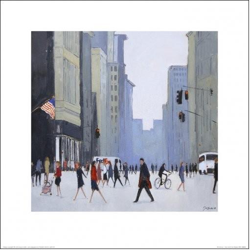 Obraz, Reprodukce - New York - 5th Avenue, (40 x 40 cm)