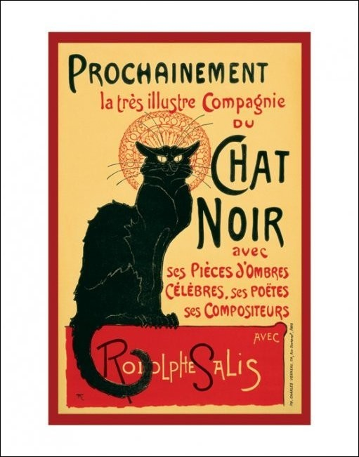 Obraz, Reprodukce - Le Chat noir - Steinlein, (40 x 50 cm)