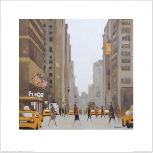 Obraz, Reprodukce - New York - 7th Avenue, (40 x 40 cm)