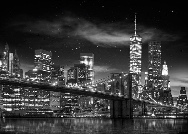 Plakát, Obraz - New York - Freedom Tower (B&W), (140 x 100 cm)