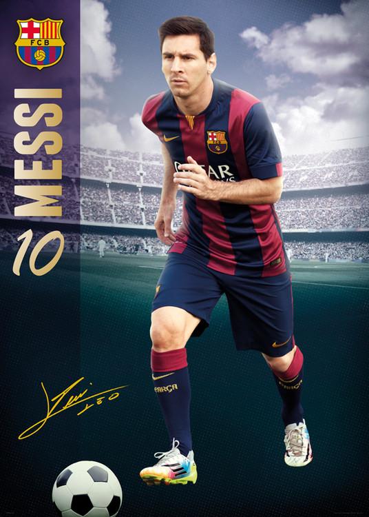 Plakát, Obraz - FC Barcelona - Messi 14/15, (100 x 140 cm)