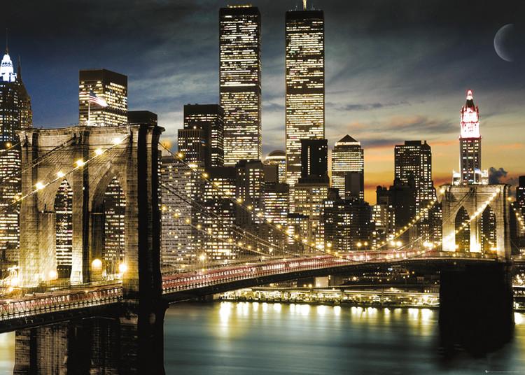 Plakát, Obraz - New York - Manhattan Lights, (140 x 100 cm)