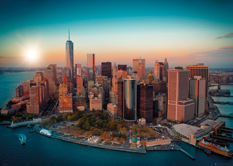 Plakát, Obraz - New York - Freedom Tower Manhattan, (140 x 100 cm)