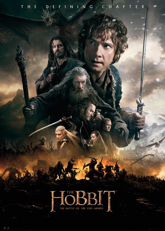 Plakát, Obraz - Hobit 3: Bitva pěti armád - Fire, (100 x 140 cm)