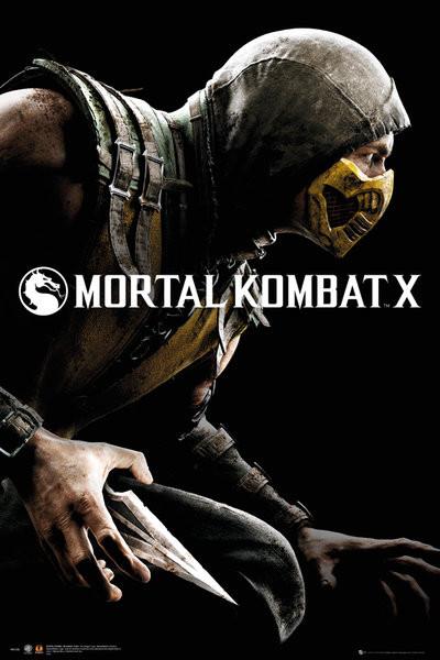 Plakát, Obraz - Mortal Kombat X - Cover, (61 x 91,5 cm)