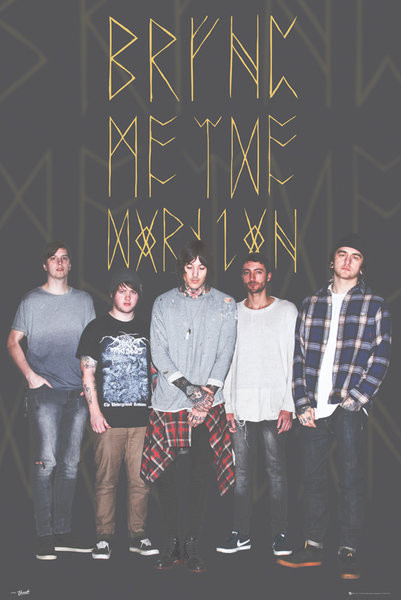 Plakát, Obraz - Bring Me The Horizon - Group Black, (61 x 91,5 cm)