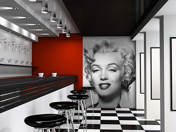 fototapete tapete marilyn monroe bei europosters. Black Bedroom Furniture Sets. Home Design Ideas