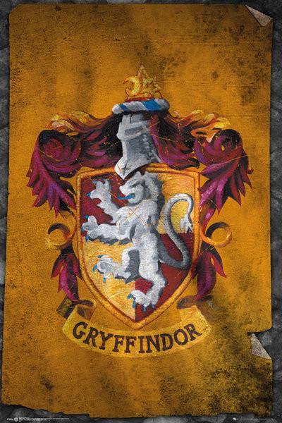 Plakát, Obraz - Harry Potter - Nebelvír, (61 x 91,5 cm)