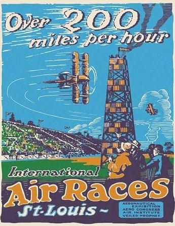 Plechová cedule St. Louis Air Races, (31.5 x 40 cm)