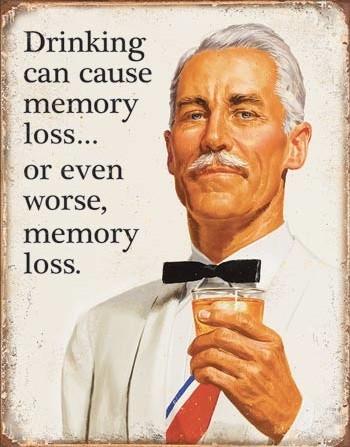 Plechová cedule Ephemera - Memory Loss, (31.5 x 40 cm)
