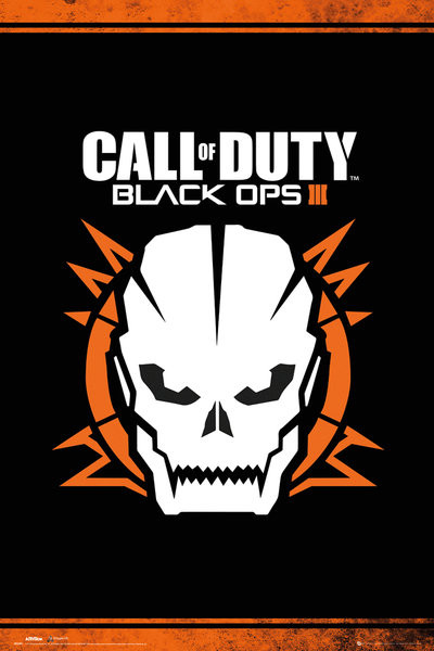 Plakát, Obraz - Call of Duty: Black Ops 3 - Skull, (61 x 91,5 cm)