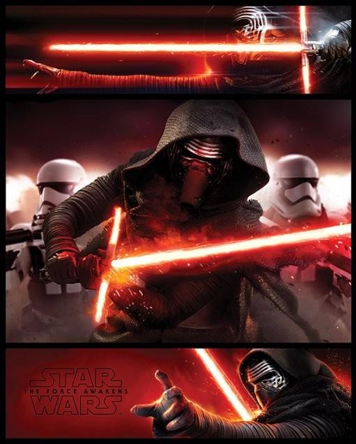Plakát, Obraz - Star Wars VII: Síla se probouzí - Kylo Ren Panels, (40 x 50 cm)