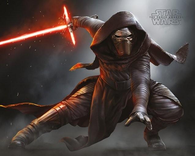 Plakát, Obraz - Star Wars VII: Síla se probouzí - Kylo Ren Crouch, (50 x 40 cm)
