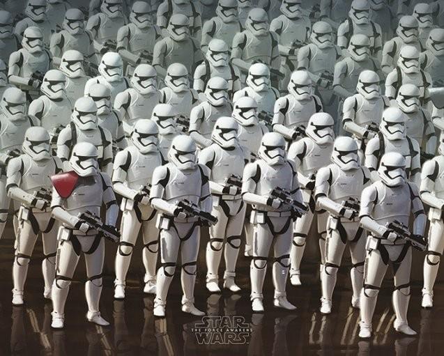 Plakát, Obraz - Star Wars VII: Síla se probouzí - Stormtrooper Army, (50 x 40 cm)
