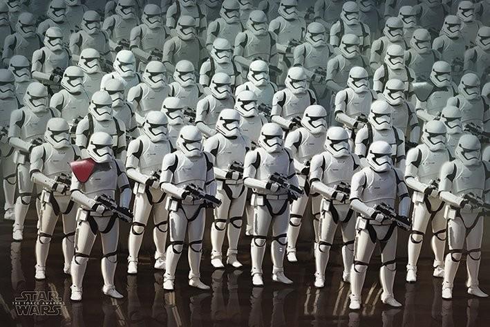 Plakát, Obraz - Star Wars VII: Síla se probouzí - Stormtrooper Army, (91,5 x 61 cm)