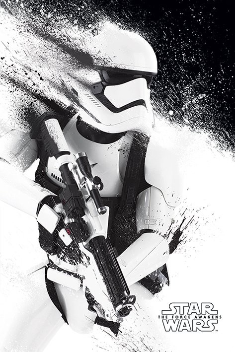 Plakát, Obraz - Star Wars VII: Síla se probouzí - Stormtrooper Paint, (61 x 91,5 cm)